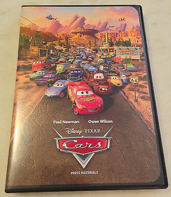 CARS (2006) Digital Press Kit; Photo CD, Booklet; Pixar; Paul Newman