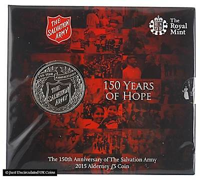 Royal Mint 2015 The Salvation Army £5 Five Pound Coin Sealed Pack BU