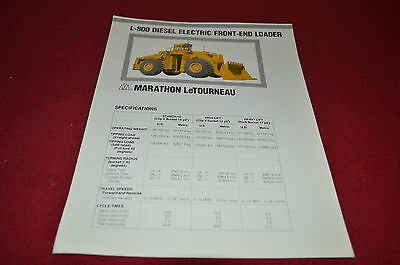 Marathon Letourneau L-800 Front End Loader Dealer's Brochure DCPA4