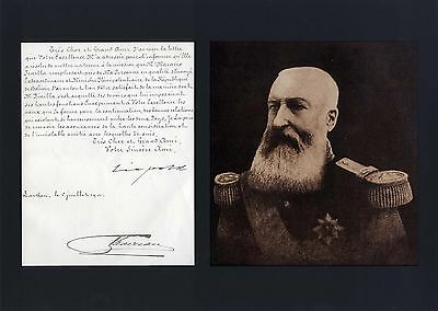 Leopold II of Belgium autograph, letter signed & mounted