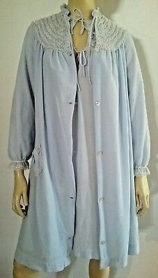 MEREDITH vintage ladies SW nightie and dressing gown  matching set