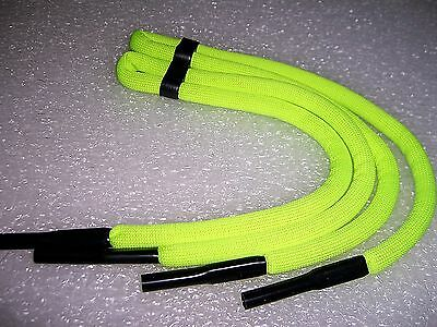 2 Pair Of Neon Green Sunglasses Floating Neck Cord Straps Eyeglasses Lanyard