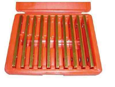 """Tin Coated  New Precision 10 Pair 1/8"""" Parallel Set"""