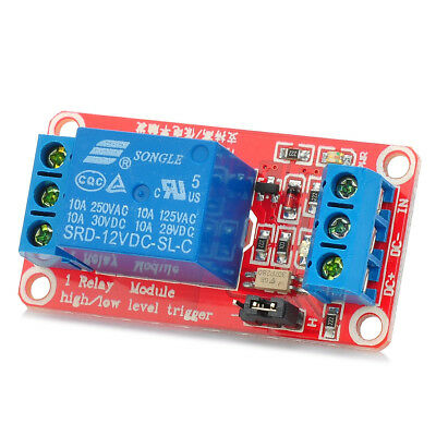 12V 1 Channel Relay Module with Optocoupler H/L High Level Triger for Arduino