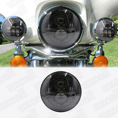 "7"" Motorcycle Projector LED Headlight Hi/Lo For Harley Davidson Electra Glide"