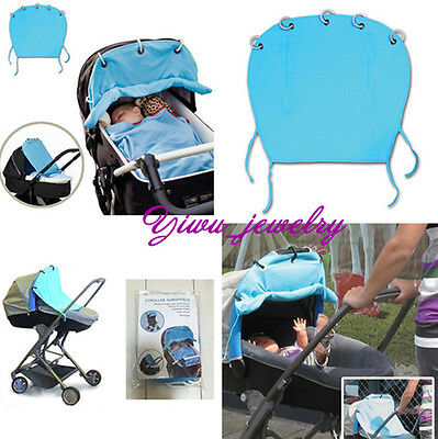 Useful Ventilated Baby Stroller Pram Sun Shade Protection Cover Wind Shield Y2
