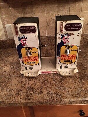 Vintage Uncle Sam Deluxe Schermack Stamp Machine!! Coin Operated Very Rare!!