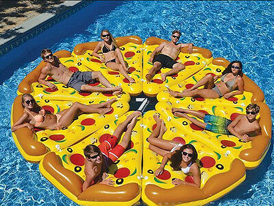 Funny Pizza Slice Beach Pad Inflatable Float Swimming Pool Beach Water Toy 180CM
