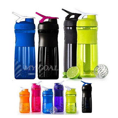750ML Sports Mixer Protein Shaker Pro Bottle Nutrition Drinking Water Cup 28OZ