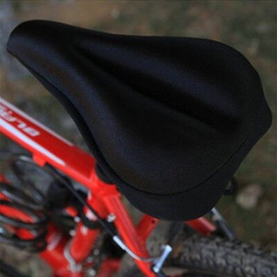 Silicone Gel Thick Soft Bicycle Bike Cycling Saddle Seat Cover Cushion Pad ##