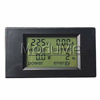 20A AC Digital LCD Panel Power Meter Monitor Power Energy Voltmeter Ammeter MO