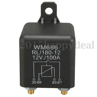 100A 4-Pin Heavy Duty ON/OFF Switch Split Charge Relay Car van Changeover Boat