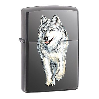 Zippo Black Ice Wolf Windproof Lighter with Gift Box