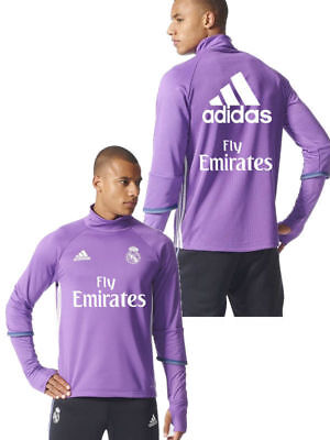 Fly Emirates Real Madrid Adidas Training Sweatshirt Felpa Lila Herren 2016 17