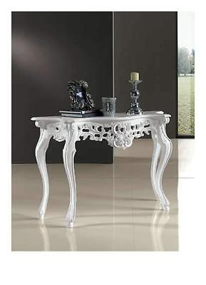 CONSOLLE INGRESSO BIANCA Shabby chic provenzale argento lusso ...