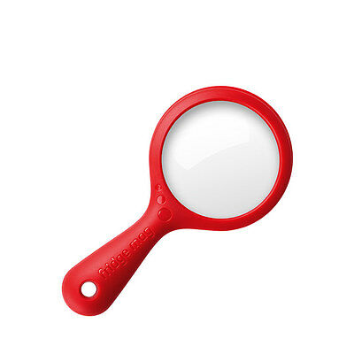 Reading Eye Handheld Magnetic Red Magnifying Glass 2x 4x . Attaches to Fridge