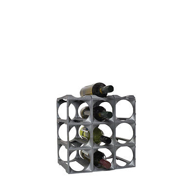 Kitchen Bar Wine Wall Storage Rack Holder Stand Organiser Display Kit 12 Bottles