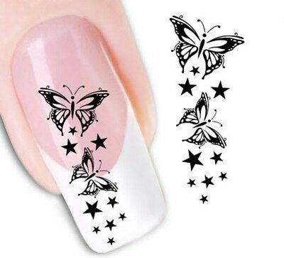 Nail Art Sticker Water Decals Transfer Stickers Decorative Butterflies (XF1430)