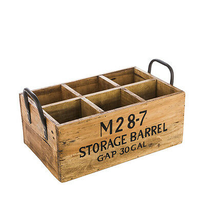 Vintage Wooden Wine Bottle Rack Crate Carrier Storage Holder Organiser Display