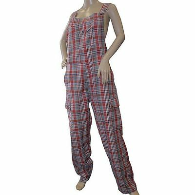 Regulus Funky Chequered Cotton Dungarees