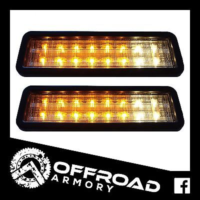 2 x LED BULL BAR FRONT PARKER INDICATOR LIGHT - LAMP 4WD TRUCK 4X4 NISSAN TOYOTA
