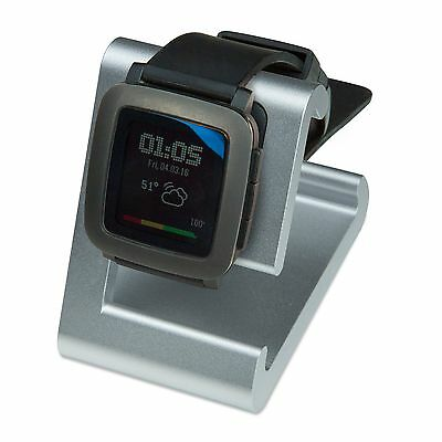 REFURBISHED TimeDock Pebble Time Dock Charger, Charging Stand SILVER