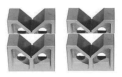 "Brand New Two Pair 2"" Cast Iron  V- Blocks 2 X 7/8 X 1-1/4"""