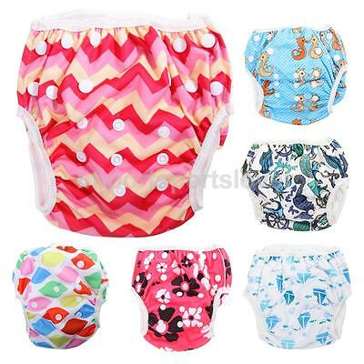 Reusable Baby Boy Girl Diaper Swimsuit Pants Trunks Swim Nappy Infant 0 3 Years