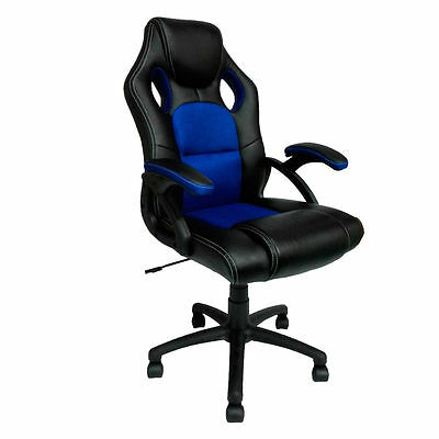 Swivel Computer Desk Chair Seat PU Leather Mesh Office Racing Gaming Reclining