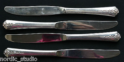 SPRING GARDEN 1949 by Holmes & Edwards SET OF 4 DINNER KNIVES, silverplate