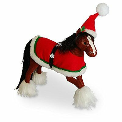 "SNOWFLAKE CLYDESDALE Horse 10"" Poseable Christmas Holiday Decoration Annalee NEW"