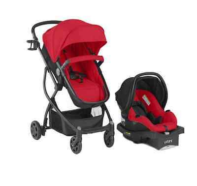 BABY 3in1 Stroller Car Seat Travel System Infant Carriage Buggy Bassinet Red