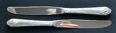 """LOVELY LADY 1937 by Holmes and Edwards set 2  DINNER KNIVES 9"""""""