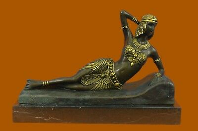 Gold Patina Art Deco Egyptian Prince Bronze Sculpture Hot Cast Figure