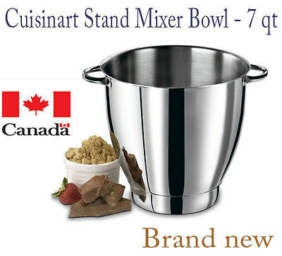 Cuisinart 7 Quart Stand Mixer Stainless Steel Mixing Bowl- SM-70MB