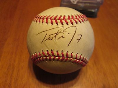 Trot Nixon Autographed Baseball in holder