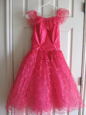 NEW Bright Pink Long Lace Tutu, Classic Ballet Costume - Adult size 10 age 14-17