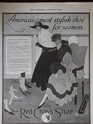 1916 Women's Red Cross Shoes 5 Styles Shown Advertisement