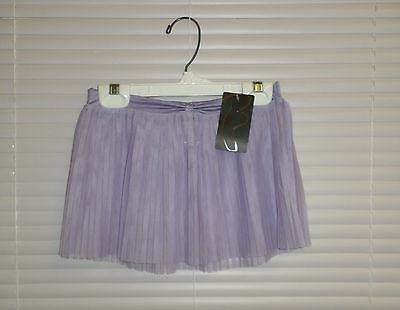 Bloch Ballet Dance Lilac Pleated Skirt Ruched Waistband Girls 8/10 Style #CR4081