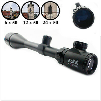 Bushnell Banner Crosshair 6-24x50mm AOE Elite ERS Rifle Scope +Free 20mm Rail