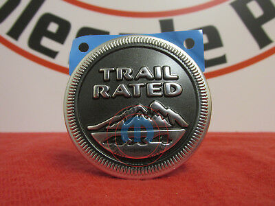 "Red//Silver Jeep /""Trail Rated 4x4/"" Emblem OEM Used"
