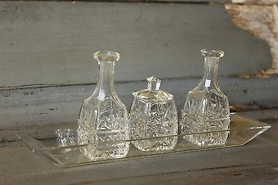 Art Deco Cruet set, Oil, vinergar and mustard pot.