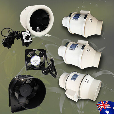 "Hydroponics 4""/5""/6"" Inline Silent Fan Ventilation Fan Exhaust Duct Air Blower"
