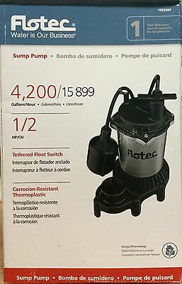 Flotec 1/2 HP Aluminum Sump Pump with Tethered Switch
