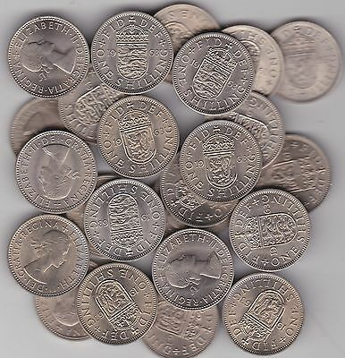 20 x 1963 ENGLISH & SCOTTISH SHILLINGS IN NEAR MINT CONDITION
