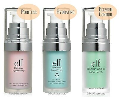 ELF Face Primer - Poreless / Hydrating / Blemish Control (Pick Yours)