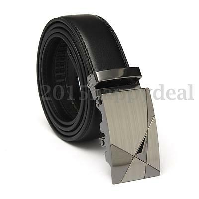 Fashion Casual Mens Automatic Genuine Real Leather Waist Strap Belts Waistband