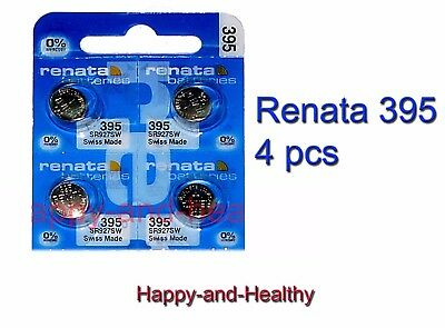 4 pcs Renata SR927SW 395 Silver Oxide watch Battery Swiss Made FREE shipping