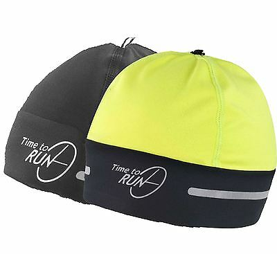 NEW Time to Run Reflective Winter Unisex Running Cycling Thermal Beanie Hat