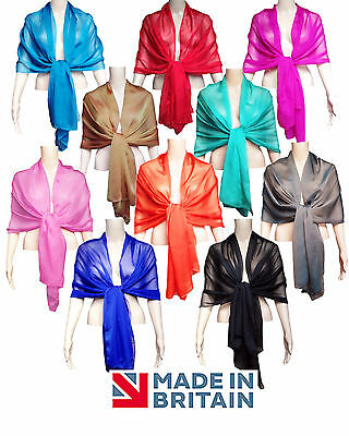 Chiffon Wrap WEDDING Shawl - 20 colours - Prom Bridal shawl scarf, 200cm x 70cm